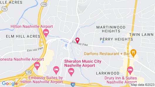 Courtyard by Marriott Nashville Airport Map