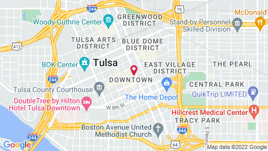 Tulsa Club Hotel, Curio Collection by Hilton Map