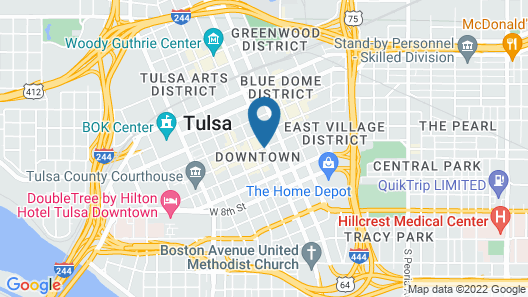 Tulsa Club Hotel, Curio Collection by Hilton Map