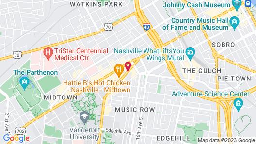 Hilton Garden Inn Nashville/Vanderbilt Map