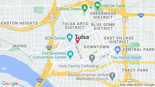 Hampton Inn & Suites Tulsa Downtown Map