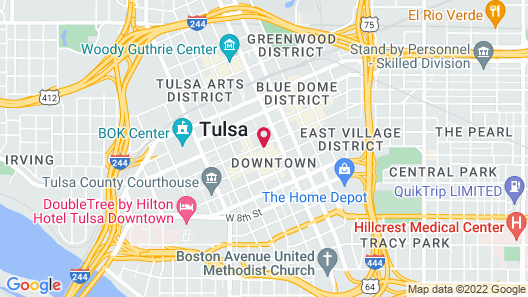 Courtyard by Marriott Tulsa Downtown Map