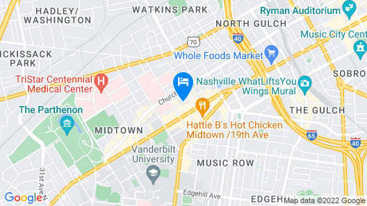 The Hayes Street Hotel Nashville Map