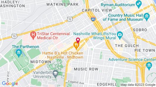 SpringHill Suites by Marriott Nashville Vanderbilt/ West End Map