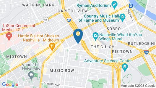 Comfort Inn Downtown Nashville-Vanderbilt Map