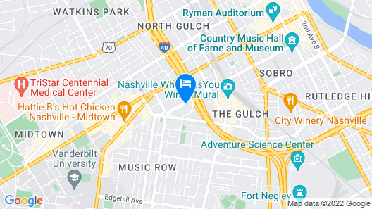 Comfort Inn Downtown Nashville-Vanderbilt Map