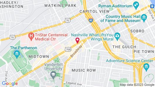 Aloft Nashville West End Map
