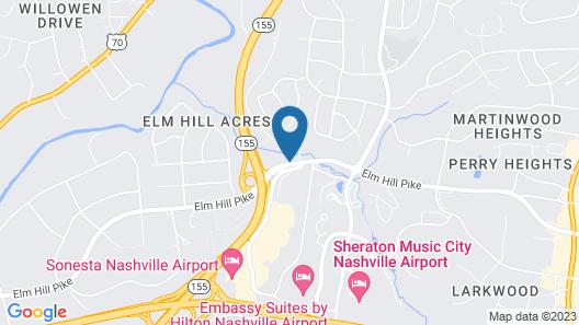 Hilton Nashville Airport Map