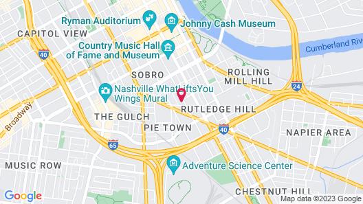 Hyatt House Nashville Downtown Sobro Map