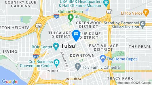 Hyatt Regency Tulsa Downtown Map