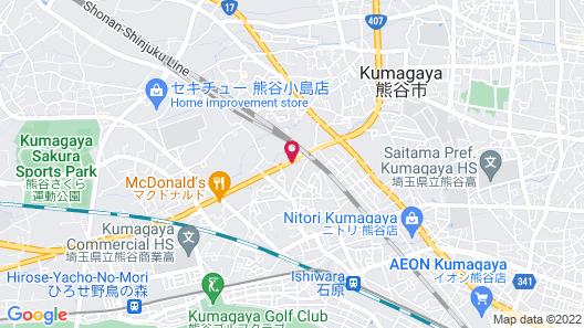 Hotel Route-Inn Kumagaya Map