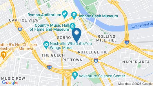 Home2 Suites by Hilton Nashville Downtown Convention Center Map