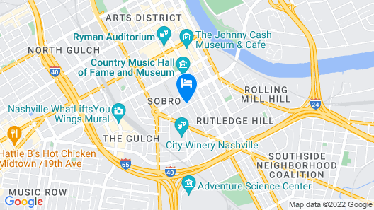 Margaritaville Hotel Nashville Map