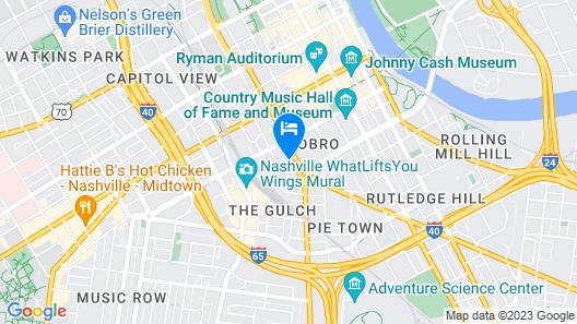 The Westin Nashville Map