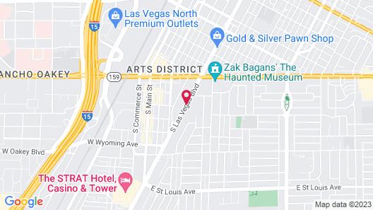 Super 8 by Wyndham Las Vegas North Strip/Fremont St. Area Map