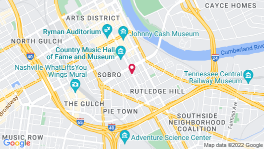 Holiday Inn and Suites Nashville Dtwn - Conv Ctr, an IHG Hotel Map