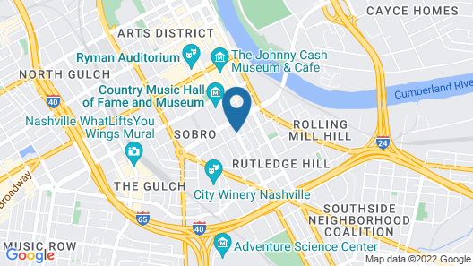 Holiday Inn and Suites Nashville Dtwn - Conv Ctr Map