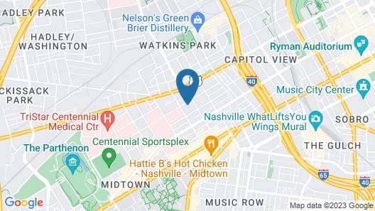 Music City Hostel Map