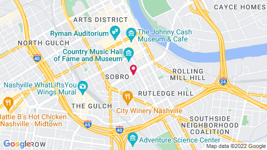 Residence Inn by Marriott Nashville Downtown/Convention Center Map