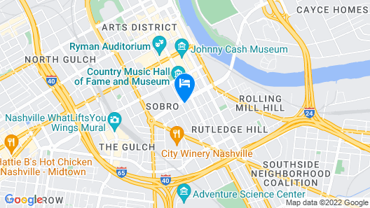 Residence Inn by Marriott Nashville Downtown/Convention Center Map