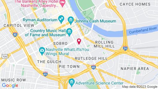 BLACK SWAN - SoBro Nashville Map