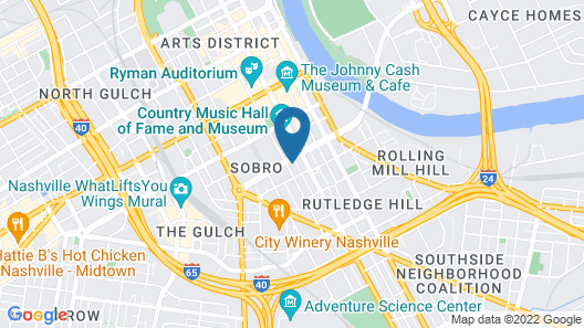 SpringHill Suites by Marriott Nashville Downtown/Convention Center Map