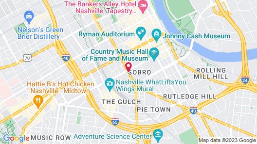 JW Marriott Nashville Map