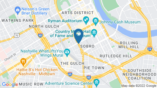 JW Marriott Nashville Map