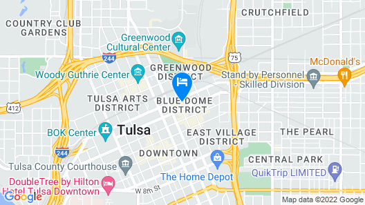 Hotel Indigo Tulsa DWTN-Entertainment Area Map