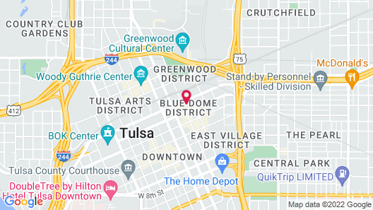 Hotel Indigo Tulsa Downtown Map
