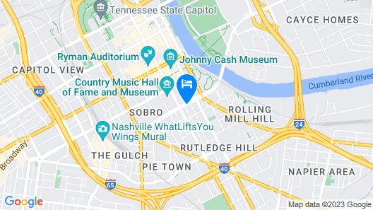 Hilton Garden Inn Nashville Downtown/Convention Center Map