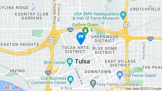 Fairfield by Marriott Inn & Suites Tulsa Downtown Arts District Map