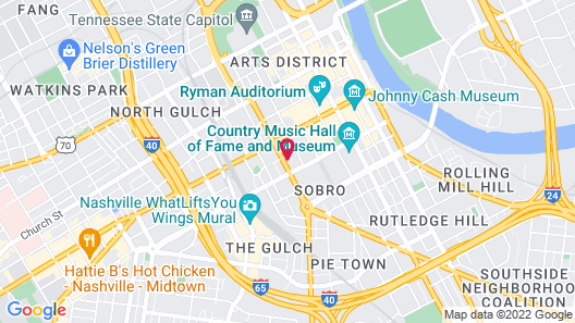 Cambria Hotel Nashville Downtown Map