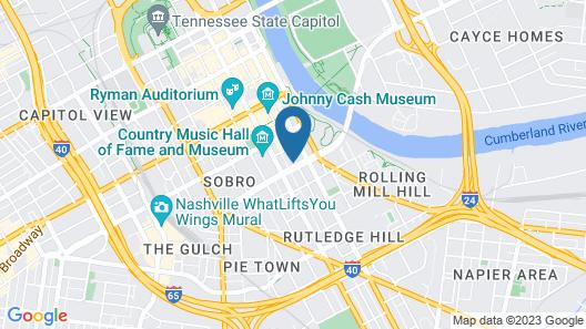 Drury Plaza Hotel Nashville Downtown Map