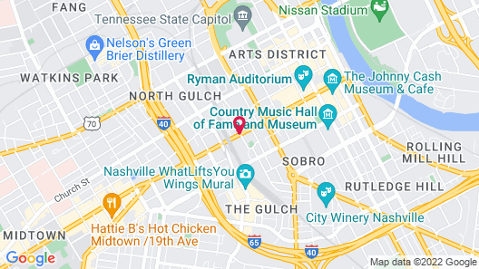 The Union Station Nashville Yards, Autograph Collection Map
