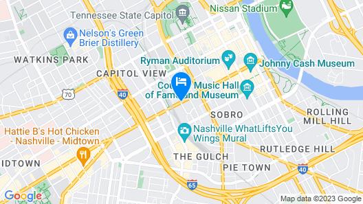 Grand Hyatt Nashville Map
