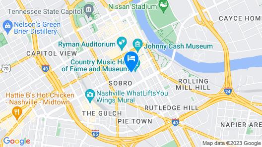 Omni Nashville Hotel Map
