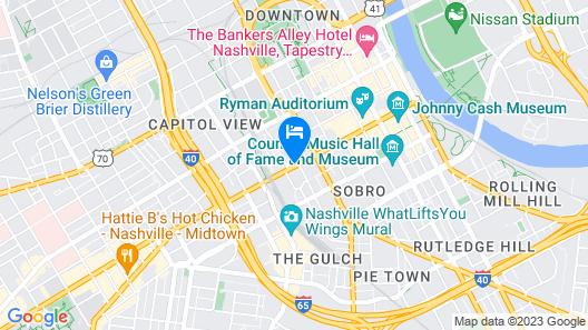 Holiday Inn Express Nashville Downtown Conf Ctr, an IHG Hotel Map