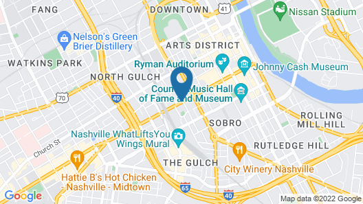 Holiday Inn Express Nashville Downtown Conf Ctr Map