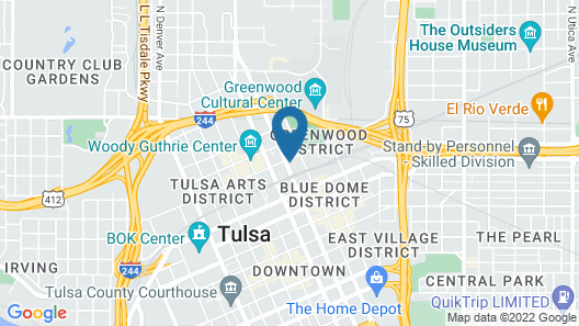 Holiday Inn Express & Suites Tulsa Downtown, an IHG Hotel Map