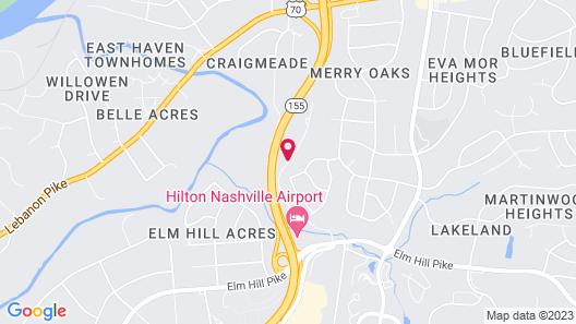 Nashville Airport Inn & Suites Map