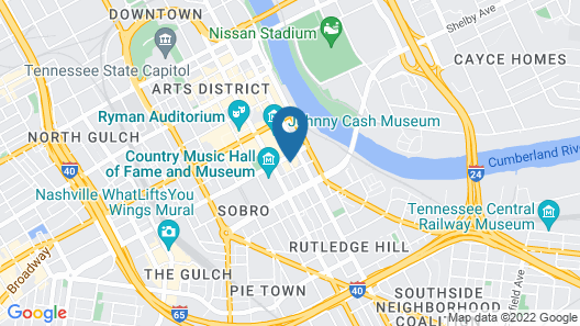 Hyatt Place Nashville Downtown Map