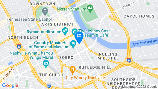 Hyatt Place Nashville Downtown Map