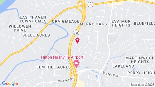 DoubleTree Suites by Hilton Nashville Airport Map