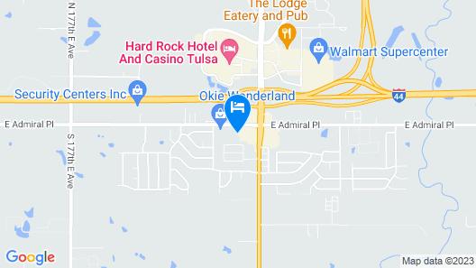 Holiday Inn Express & Suites Tulsa East - Catoosa, an IHG Hotel Map