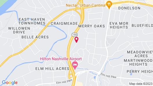 Club - Hotel Nashville Inn & Suites Map
