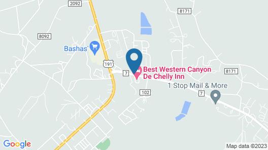 Best Western Canyon De Chelly Inn Map