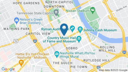 Holston House Nashville, in The Unbound Collection by Hyatt Map