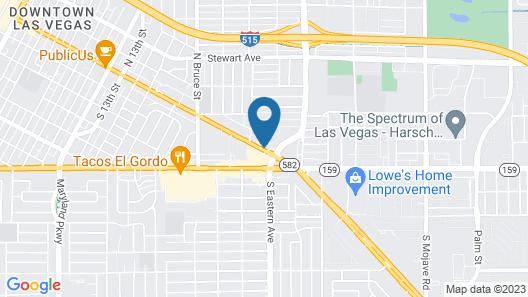 Desert Hills Motel Map