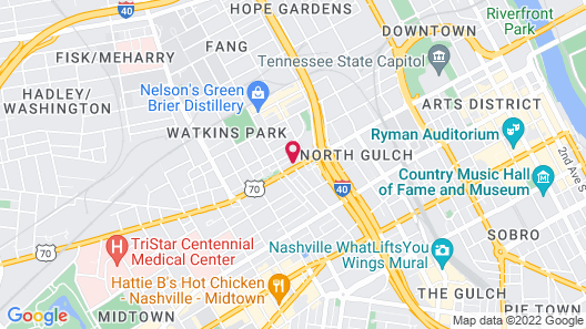 TownePlace Suites by Marriott Nashville Midtown Map